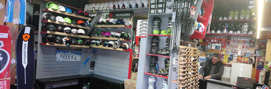 Le magasin Jean Pierre Sports, au coeur du grand massif de Haute-Savoie