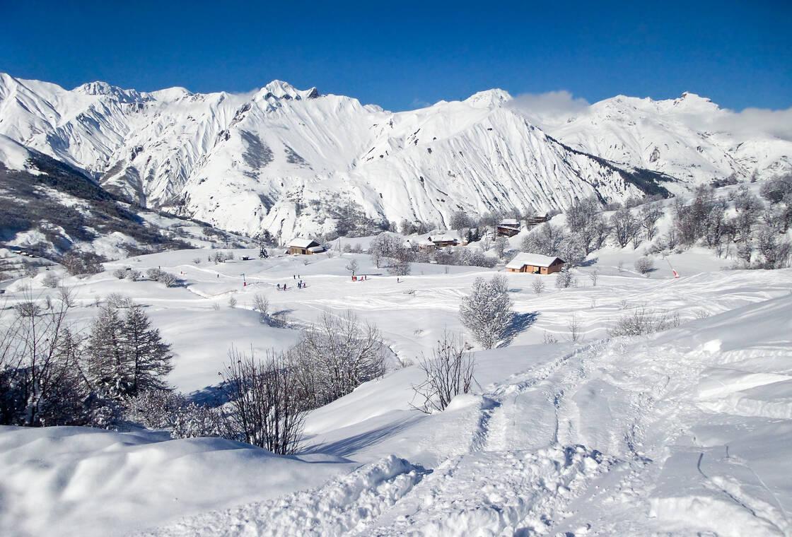 La station de ski de St Martin de Belleville
