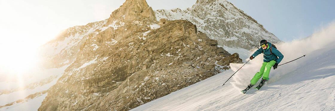 descente en ski alpin