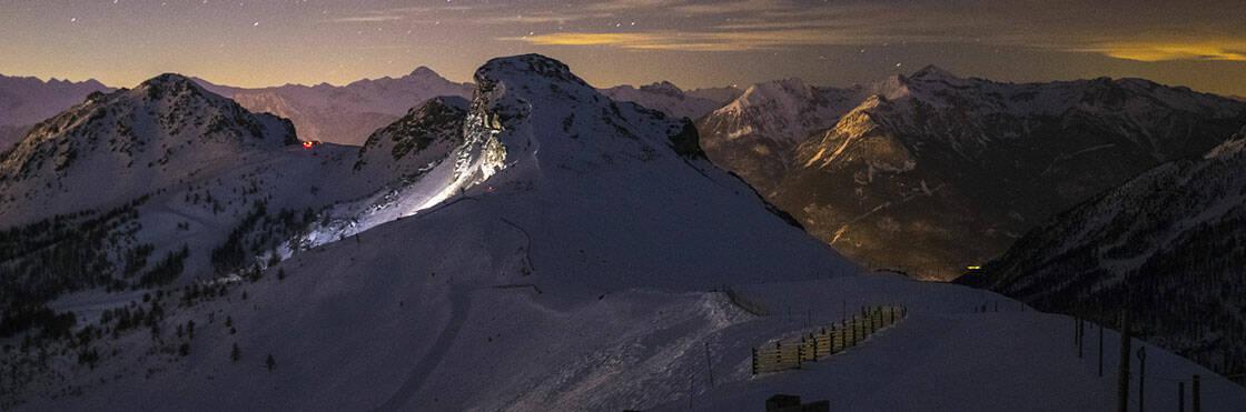 domaine skiable serre chevalier de nuit