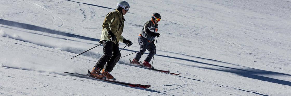 ski alpin descente de piste