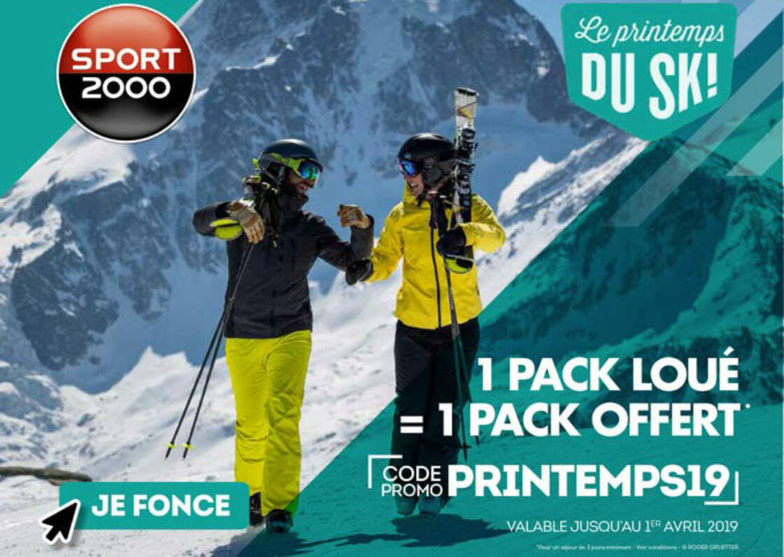location pack de ski reduction printemps 2019