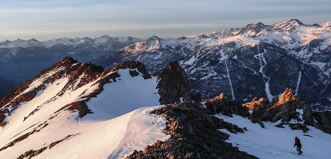 spot freeride sur les hauteurs de serre-chevalier en hiver