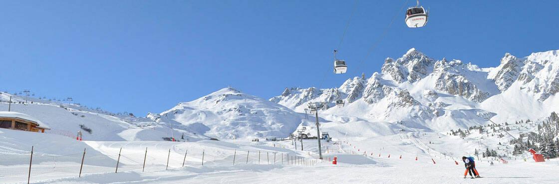 Courchevel la station de ski enneigée