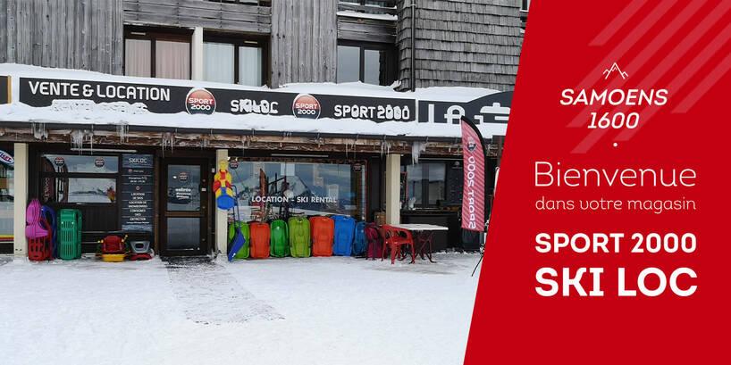 Magasin Sport 2000 Ski Loc Samoens 1600 Extérieur