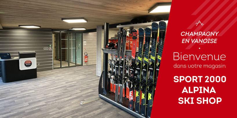Magasin Sport 2000 Alpina Ski Shop Champagny en Vanoise Intérieur