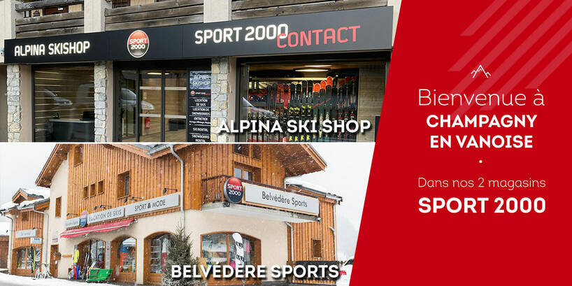 Magasin Sport 2000 Champagny en Vanoise 2 mags